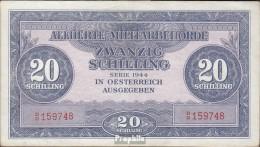 Österreich Kat-Nr.: 244 (107) Allierte Militärbehörde, Kennnummer Rot Gebraucht (III) 1944 20 Schilling - Oesterreich