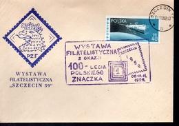 POLOGNE  Lettre  1959   Poste  Espace Satellite - Europa