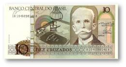 BRASIL - 10 CRUZADOS - ND ( 1986 ) - P 209.a - UNC. - Serie 1046 - Sign. 23 - Rui Barbosa - Brasile