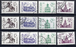 RUSSIAN FEDERATION 1992 Definitive  (4).  On Both Papers, Photo And Offset Used.  Michel 278-81 I A V+w, 278-81 II Cw - 1992-.... Federation