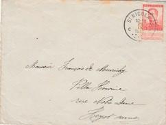 10 Ct Op Brief St Niklaas 21.IX.14 Naar Heyst A/Zee - Aankomst Op Verso 22.IX.14. - WW I
