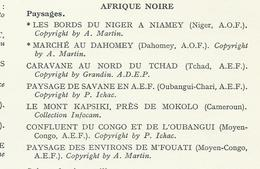 Documents Afrique Noire Paysages   Lot De 7 Planches Format De Chaque Image 31 X 24 Cms - Vieux Papiers