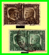 ITALIA  SELLOS  AÑO 1941  HITLER Y MOSSOLINI - 1900-44 Victor Emmanuel III