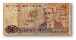 BRASIL - 50 CRUZADOS - ND ( 1986 ) - P 210.a - Serie 392 - Sign. 23 - Oswaldo Cruz - Brazil