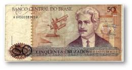 BRASIL - 50 CRUZADOS - ND ( 1986 ) - P 210.a - Serie 430 - Sign. 23 - Oswaldo Cruz - Brasil