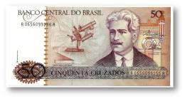 BRASIL - 50 CRUZADOS - ND ( 1986 ) - P 210.a - UNC. - Serie 656 - Sign. 23 - Oswaldo Cruz - Brasile