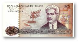 BRASIL - 50 CRUZADOS - ND ( 1986 ) - P 210.a - UNC. - Serie 1368 - Sign. 23 - Oswaldo Cruz - Brazilië