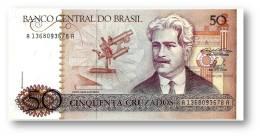 BRASIL - 50 CRUZADOS - ND ( 1986 ) - P 210.a - UNC. - Serie 1368 - Sign. 23 - Oswaldo Cruz - Brazil