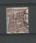 1920 - 22 N° 19  SANS CHIFFRE 21 OBLITERE DATE FILI  A - Officials