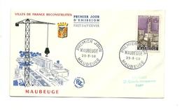 FDC France - Villes Reconstruites - Maubeuge - Année 1958 - 1950-1959