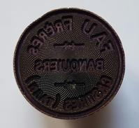 SCEAU - CACHET - BANQUE - FAU FRERES BANQUIERS CASTRES TARN - LAITON - DIAMETRE : 3cm - Cachets