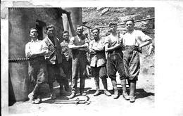 Cartolina Postale Di Lavoratori Scavi A Curmayer - Italia