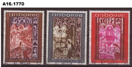 Andorre (F), 1969, Mi 218-220, Fresques  -  OBL  -  (int_A-161770)