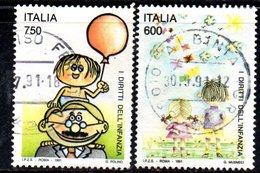 XP1811 -  REPUBBLICA 1991, Serie Usata . INFANZIA - 6. 1946-.. Repubblica
