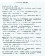 Documents Afrique Noire Scènes De Vie Et Villes-  Lot De 13 Planches Format De Chaque Image 31 X 24 Cms - Vieux Papiers