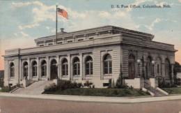 Nebraska Columbus Post Office 1919 Curteich - Columbus