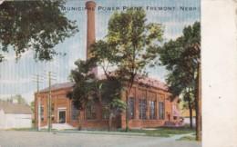 Nebraska Fremont Municipal Power Plant 1910 - Fremont
