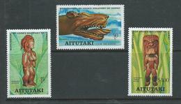 Aitutaki 1978 Cook Hawaii Set Of 3 MNH , Just A Hint Of Gum Ageing - Aitutaki