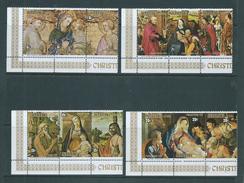 Aitutaki 1975 Christmas Set Of 4 Strips Of 3 MNH - Aitutaki