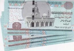 EGYPT 5 EGP 2015 P-63 NEW DESIGN SIG/ RAMEZ #22 Lot X5 UNC Notes */*