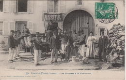 88 - LA GRANDE FOSSE - LES POMPIERS A LA MANOEUVRE - SUPERBE PLAN ANIME - Other Municipalities