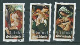 Aitutaki 1972 Christmas Set Of 3 FU - Aitutaki