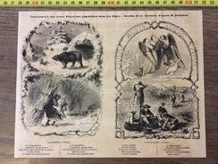 GRAVURE 1857 PROVERBES POPULAIRES DANS LES ALPES GUIGUES ET DURAND LA CHANDELEUR ET SAINTE AGATHE - Alte Papiere