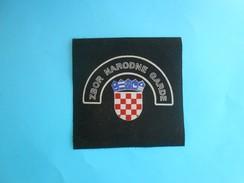 ZBOR NARODNE GARDE ( ZNG ) - Croatia Army Old Patch Croatie Armee Ecusson Kroatien Flicken Croazia Croacia - Patches
