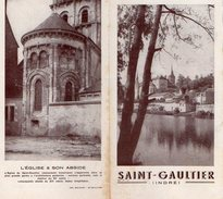 VP7584 -  Ancien  Dépliant Touristique - SAINT GAULTIER ( Creuse ) - Publicités