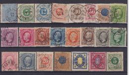 SWEDEN 1872-1892 - Oblitérés