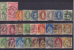 SWITZERLAND 1882-1908 - Oblitérés