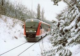 RAIL RAILROAD RAILWAY RAILCAR TRAIN HUNGARIAN STATE RAILWAYS MAV WINTER SNOW ESZTERGOM CALENDAR Top Card 2007 5 Hungary - Calendari