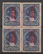A413.-. KOLUMBIEN / COLOMBIA. 1937 . MI#: 22- OFFICAL STAM- USED BLOCK X 4- COLUMBUS . CV : 8 EUROS - Colombia