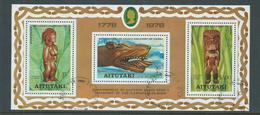 Aitutaki 1978 Cook Hawaii Miniature Sheet FU - Aitutaki