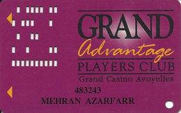 Grand Casino Avoyelles - Marksville, LA - Slot Card With DLR CP On Reverse - Casino Cards