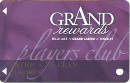 Grand Casino Mille Lacs & Hinckley MN - Slot Card - No Logo On Back - Casino Cards