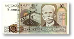 BRASIL - 10 CRUZADOS - ND ( 1987 ) - P 209.b - UNC. - Serie 1402 - Sign. 25 - Rui Barbosa - Brazil
