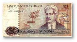 BRASIL - 50 CRUZADOS - ND ( 1987 ) - P 210.b - Serie 1894 - Sign. 25 - Oswaldo Cruz - Brazil