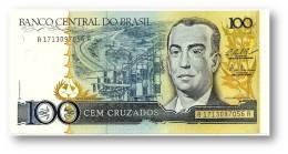 BRASIL - 100 CRUZADOS - ND ( 1987 ) - P 211.c - UNC. - Serie 1713 - Sign. 25 - Juscelino Kubitschek - Brasile