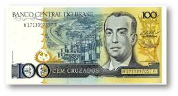 BRASIL - 100 CRUZADOS - ND ( 1987 ) - P 211.c - UNC. - Serie 1713 - Sign. 25 - Juscelino Kubitschek - Brazilië