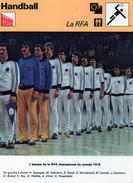 HANDBALL***      Equipe De RFA 1978 - Handball