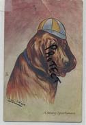 Wain Louis : A Heavy Sportsman  ( 2 Scans  See Detail )  Dog-hond-chien - Wain, Louis