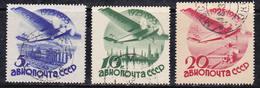 Russie 1934 N° Y&T : PA. 41 à 43 Obl.