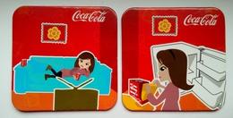 Set 2 Pieces - Coca-Cola From Romania - Fridge Pack - Coasters