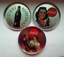 Coca-Cola From Romania - Metallic Set - Unused - Posavasos (Portavasos)