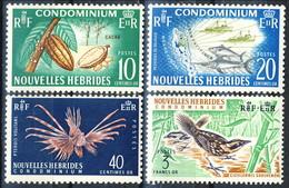 Nouvelles Hebrides 1965 Serie N. 215-218 MNH Cat. € 30 - French Legend