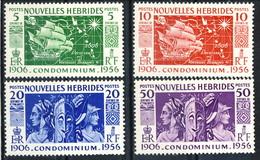 Nouvelles Hebrides 1956 Serie N. 167-170 MNH Cat. € 7.50 - French Legend