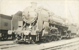 LOCOMOTIVE N° 3631 Carte Photo Collection Jean Bornet. - Trains
