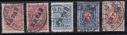 Russie 1910-1911 N° Y&T : 23,24,25,27 Et 33 Obl.