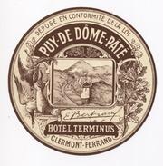 63 - CLERMONT FERRAND  - Hotel TERMINUS -  Document Publicitaire - - Etiquettes D'hotels